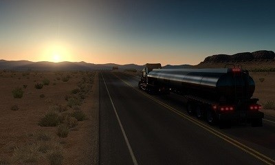 American Truck Simulator day night transition
