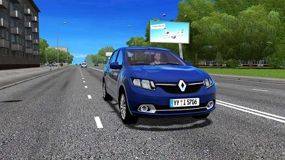 City Car Driving dacia logan mod